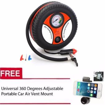 260PSI Auto Car Electric Tire Inflator Pump Air Pressure GaugeCompressor DC 12V with free Universal 360 Car Mount