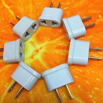 2xEU To US USA 110v Socket AC Power Plug Adapter Outlet TravelConverter (White) Set of 3pcs
