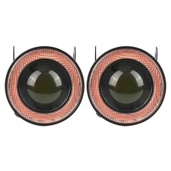 2pcs 2.5'' Fog Light With Red COB Angel Halo Eye Ring For Car SUVTruck - intl