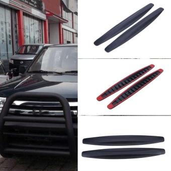 2pcs Car Auto Bumper Protector Corner Guard Anti-ScratchStrips(Black) - intl - 3