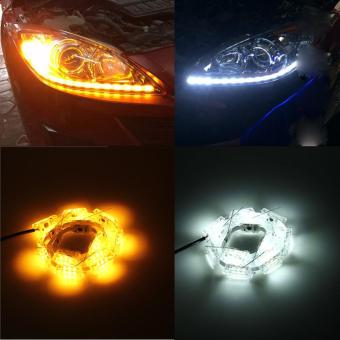 2Pcs Car LED Rider Strip Light Sequential Flasher Flowing TurnSignal Lights - intl