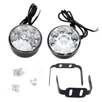 2pcs DC 12V 9 LEDs Round Auto Fog Lamp Car DRL LED Daytime Running Lights - intl - 5