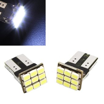 2pcs DC 12V Car T10 LED W5W 9 SMD Chips LED 3W 160 LM Marker Light White Bulbs