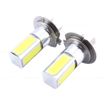 2Pcs H7 COB LED Fog Light Car Driving Bulb Lamp High Power 10W (Ice Blue)