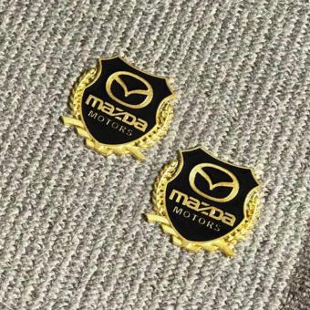 2pcs High Quality Golden Emblem Badge for Mazda Cars