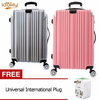 "2PCS Idoky 20""+24"" TSA Lock Premium Universal Wheel Rolling Suitcase Luggage set of 2 size (20""/24"") Price Philippines"