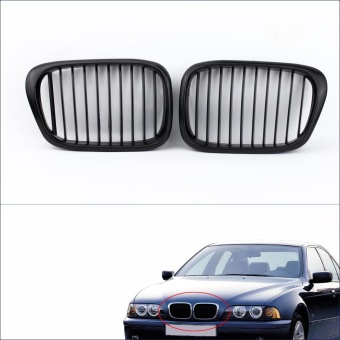2Pcs Matte Black Front Kidney Grille for BMW E39 5 Series 1998-2003 - intl
