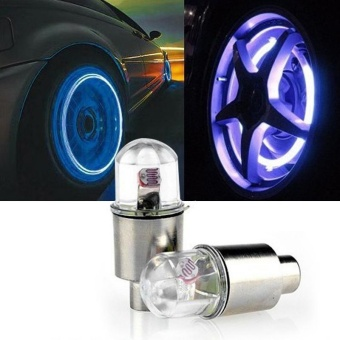 2PCS Multicolor LED Tyre Tire Valve Caps Bike Car Motorcycle Neon Light Lamp - intl