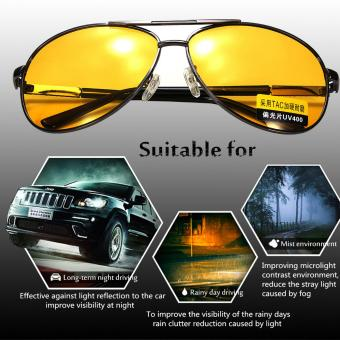 2Pcs Polarized Yellow Lens Sunglasses Night Driving Vision Glasses Eyewear UV400