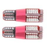 2pcs T10-3014-57SMD Decoding Wide Lamp Bulb License Plat Car Light Red - intl