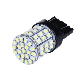 2pcs T20 W21W 7443 7440 LED 64-SMD 1206 Tail Stop Brake Light(White) (Intl) - intl