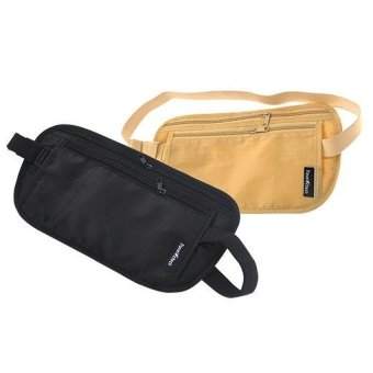 2pcs Ultra-thin Invisible Anti-theft Waist Pack Money PassportWallet Pouch Security Travel Bag