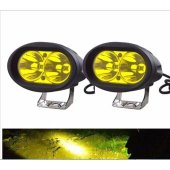2pcs Wall E 4D 20W Motorcycle Led Fog Driving work Light(YELLOW)