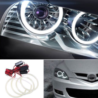 2pcs White Light COB LED Angel Eyes Halo Ring Fog Lamps For 2004-2008 Mazda 3