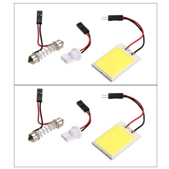 2pcs Xenon HID White24 COB LED Dome Map Light Bulb Car InteriorPanel Lamp - intl