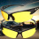 2Pcs Yellow Lens Night Vision Goggles Sunglasses Driving Riding Sport Glasses UV400 - Intl