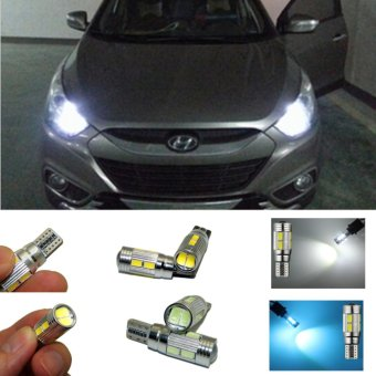 2X Car T10 LED 10-SMD Wedge Light Bulb W5W 194 168 For HyundaiSolaris ix35 i30 ix35 Accessories Accent(white light) - intl