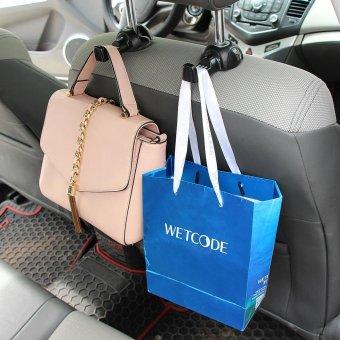 2x Car Headrest Seat Double Hook Holder Hanger Bag Organizer Vehicle Coat Hanger