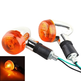 2x Motorcycle Turn Signal Indicator Amber Light 12v - intl