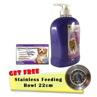 3 in 1 Shampoo, Conditioner and Cologne 1000mL (Lavender) and Pro-lific Oatmeal Organic Soap 130grams with Free Stainless Feeding Bowl