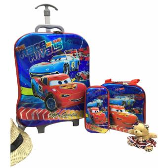 3 in 1 UHE THE CARS backpack Strolleys for school bag (BLUE)