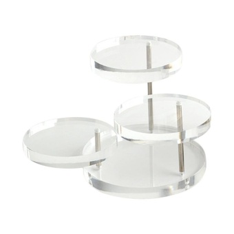 3 Tray Acrylic Jewelry Display Stand Shelf for Earring Bracelet Necklace Display - intl