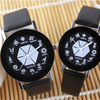 301 EXO Korean male and female students Watches Couple quartz watch men and women watch small gift - intl