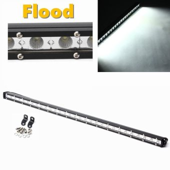 31 Inch 90W White LED Flood Beam Lamp Driving Offroad Work Light Bar - intl Price Philippines