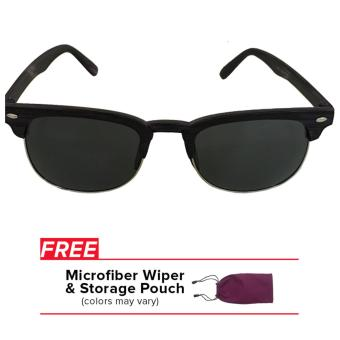 32sunny Jaime Clubmaster Square Black with Purple Matte Finish Everyday Sunglasses