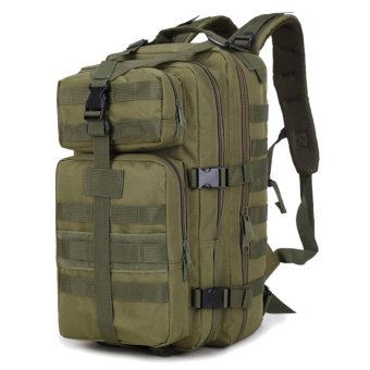 35L Large Capacity Outdoor Expandable Military Tactical Backpack Waterproof Travel Hiking Camping Trekking Climbing Hunting Laptop Bag Army-green - intl