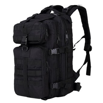 35L Large Capacity Outdoor Expandable Military Tactical BackpackWaterproof Travel Hiking Camping Trekking Climbing Hunting LaptopBag Black - intl