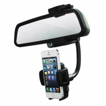 360 Rotation Car Rearview Mirror Mount Holder for CELLPHONE GPS