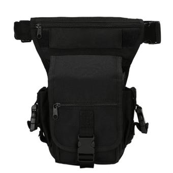 360DSC Multi-purpose Detachable Tactical Military Drop Leg WaistBag Riding Bag for Motorcycle Outdoor Bike Cycling Thigh Pack WaistBelt Bag - Black