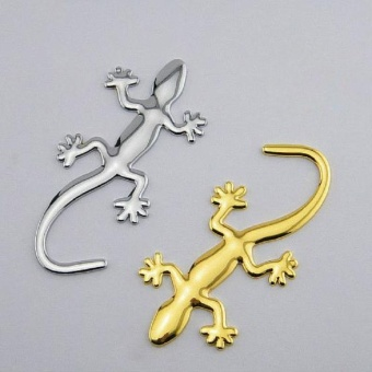 3D Metal Ho Car Auto Motorcycle Gecko Logo Emblem Badge Car StylingStickers Automobiles Car-Styling Accessories #Gold - intl