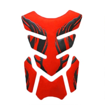 3D Motorcycle Fuel Oil Tank Pad Decal Protector Cover Sticker Universal Red - intl