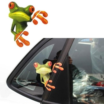 3D Peep Frog Funny Car Stickers Truck Window Decal Graphics Sticker - intl