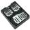 3Pcs Nonslip Car Accelerator Brake Foot Pedal Cover Pad Footrests