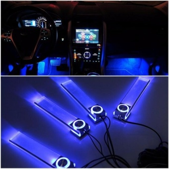 4 in 1 LED 12V Car Atmosphere Light Car Decorative Atmosphere Lamp Car styling Interior Dash Floor Foot Decoration - intl