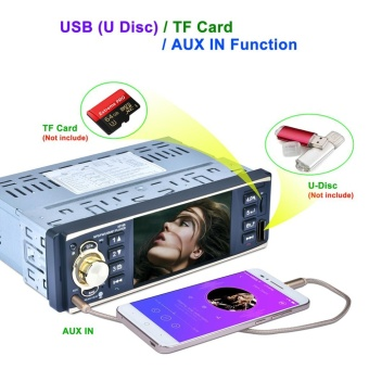 4019B 4.1 Inch 1DIN MP5 Car Media Player - intl - 4