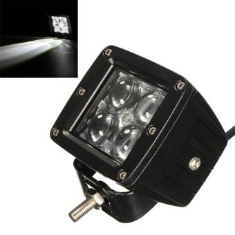 40W 4000LM 4 LED Work Light Fog Lamp for Motorcycle / Tractor / Boat / 4WD Offroad / SUV / ATV - intl - 3