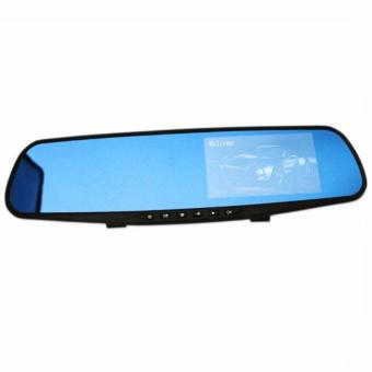 4.3 Inch 1080HD Dash Cam Video Recorder Dual Lens Rear-view Mirror Car Camera DVR
