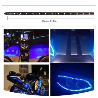 4pcs 30CM 15 LED Car Strip Light Waterproof Flexible Auto Wheellight For Motors Truck Vehicles DC 12V Color:Acid blueSpecification:4PCS 15LED - intl - 2