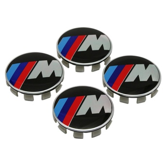 4pcs 68mm Car Emblem Badge Sticker Wheel Hub Caps Centre Cover M for BMW E46 E30 E34 E60 E90 E39 F10 F30 M3 M5 M6 X5 X6 - intl