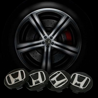 4pcs diameter 69mm Honda logo emblem Wheel Center Hub Caps Dust-proof Badge logo covers car styling Auto accessories (black) - intl
