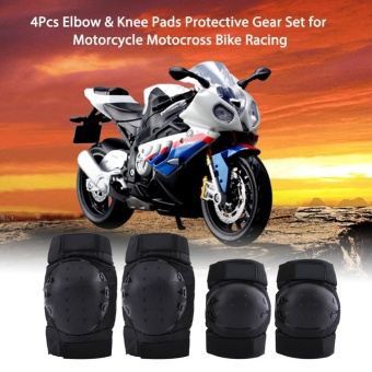 4Pcs Elbow Knee Pads Guard Protector Protective Gear Set forMotorcycle Racing Motocross Bike - intl