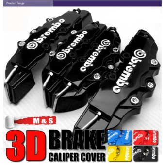 4pcs New ABS Universal Disc Brake Caliper Covers Front & Rear(Black) - intl