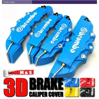 4pcs New ABS Universal Disc Brake Caliper Covers Front & Rear(Blue) - intl