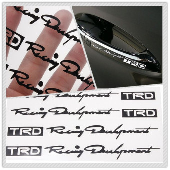 4pcs TRD Head Graphics Auto Car Truck Handle Decor Stickers Decals Black