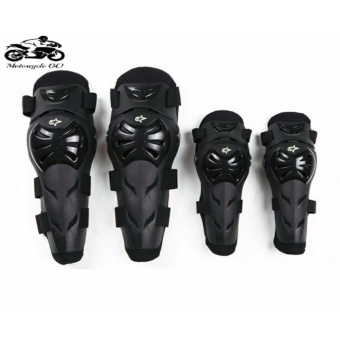 4pcs/Set Motorcycle Knee Pads Mountain Bike Bicycles Outdoor SportsMotorcross Kneepad Moto Racing Protective Gear (Black)