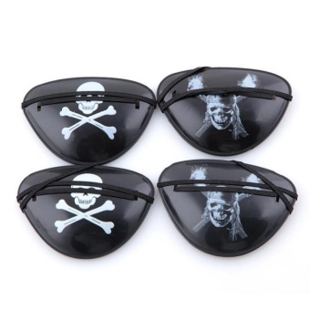 4x Pirate Eye Patch Halloween Birthday Party Favor Bag CostumeDress Up Kids Toy - intl